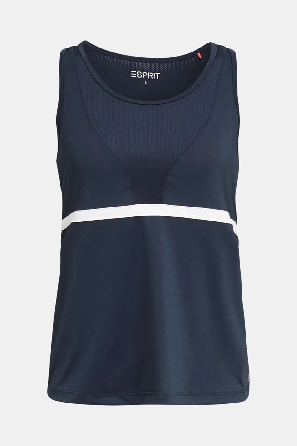 2-in-1 top with bustier, E-DRY, NAVY 2, detail image number 3