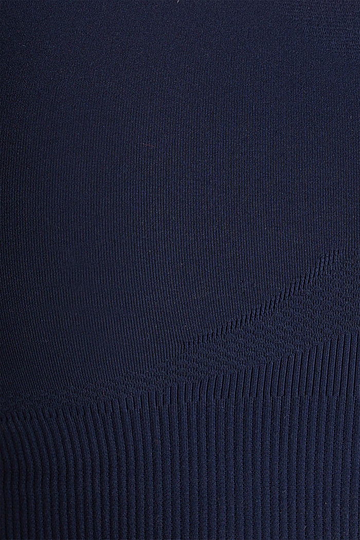 Naadloze sportbustier, E-DRY, NAVY, detail image number 3