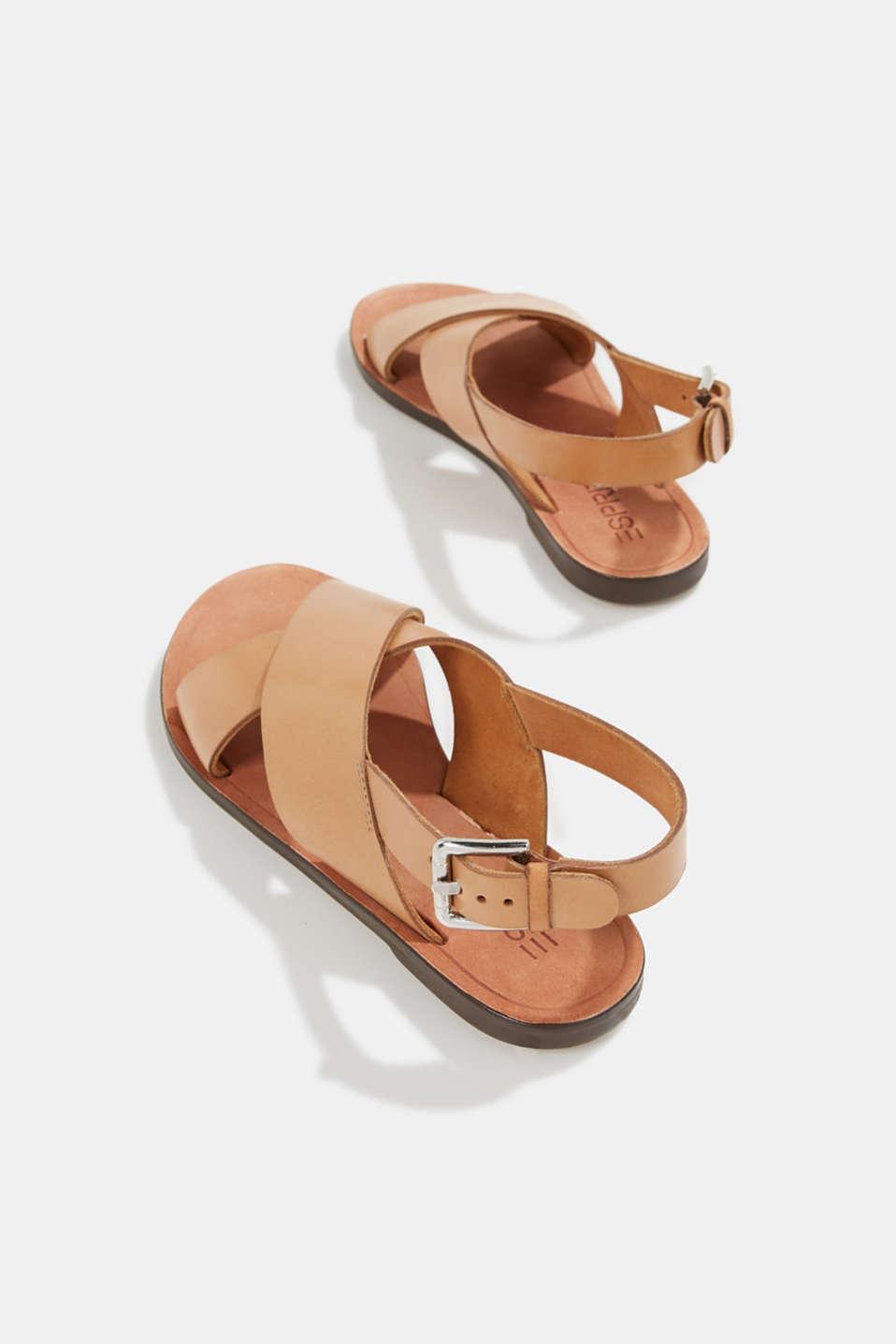 Made of leather: strap sandals, CAMEL, detail image number 5