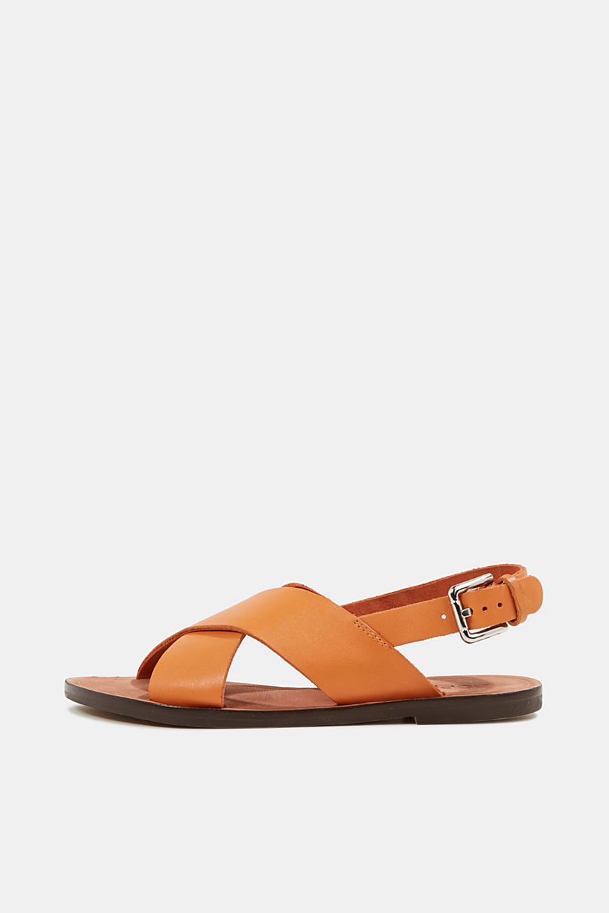 Made of leather: strap sandals