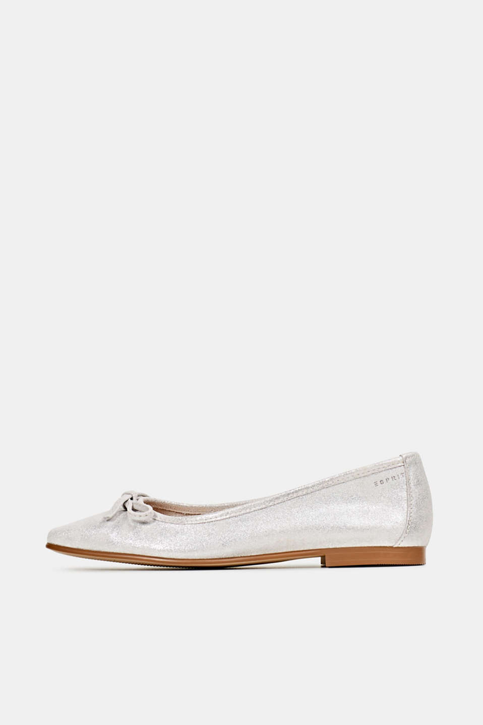Esprit - Leather ballerinas with bows