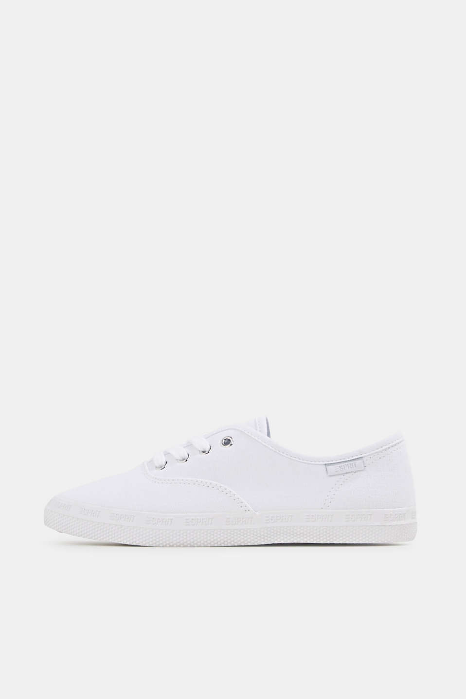 Cotton canvas trainers, WHITE, detail image number 0