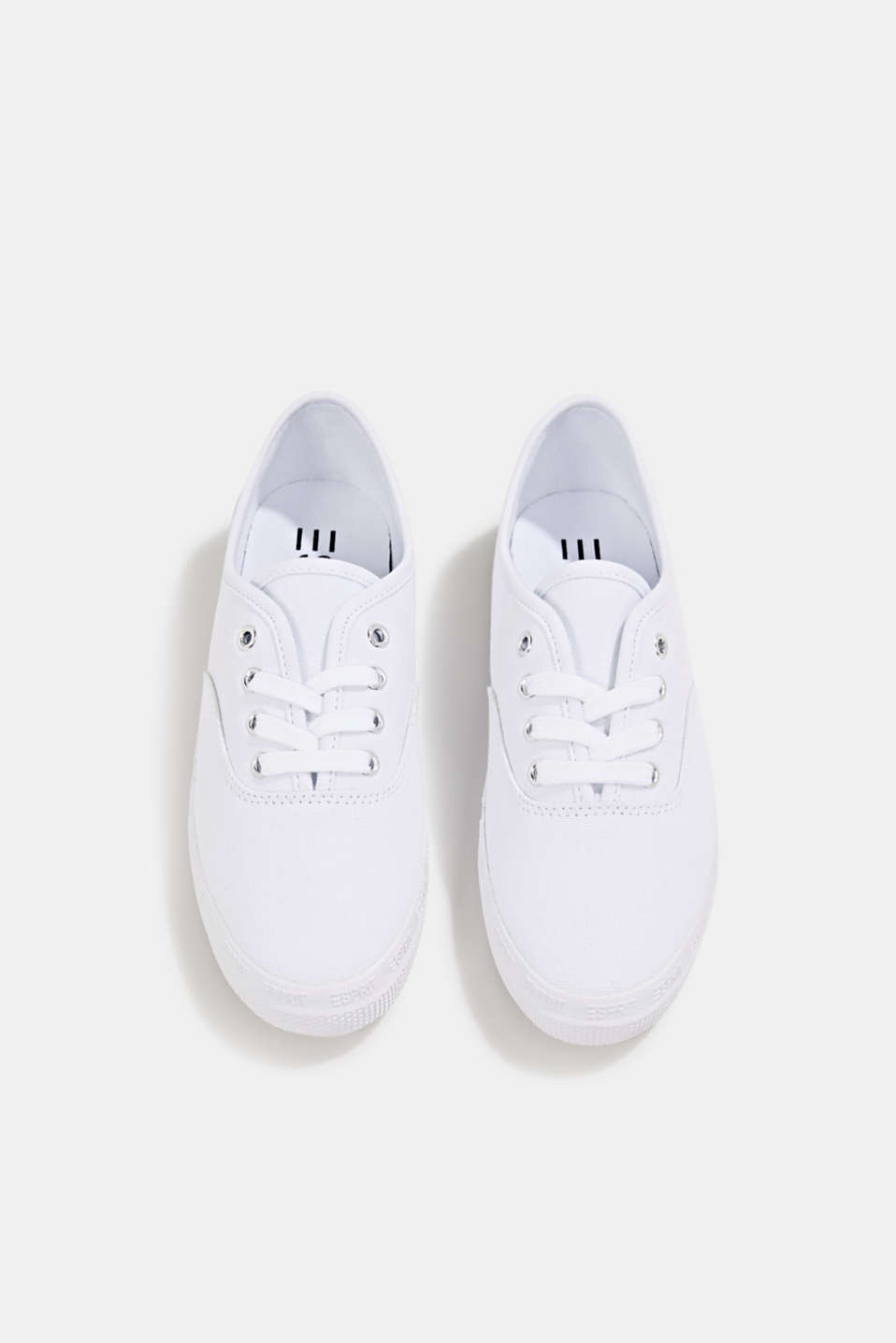 Cotton canvas trainers, WHITE, detail image number 1