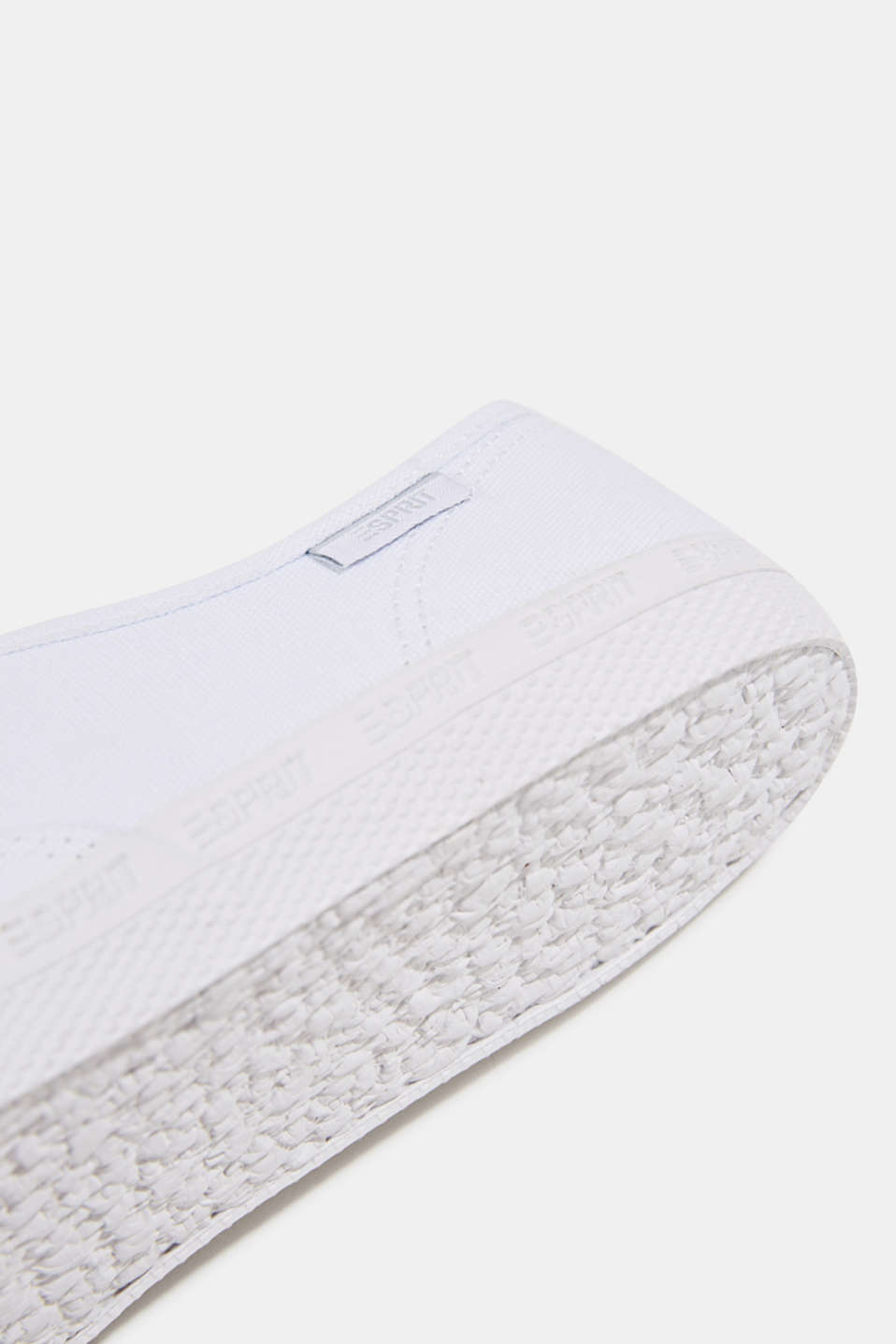 Cotton canvas trainers, WHITE, detail image number 5
