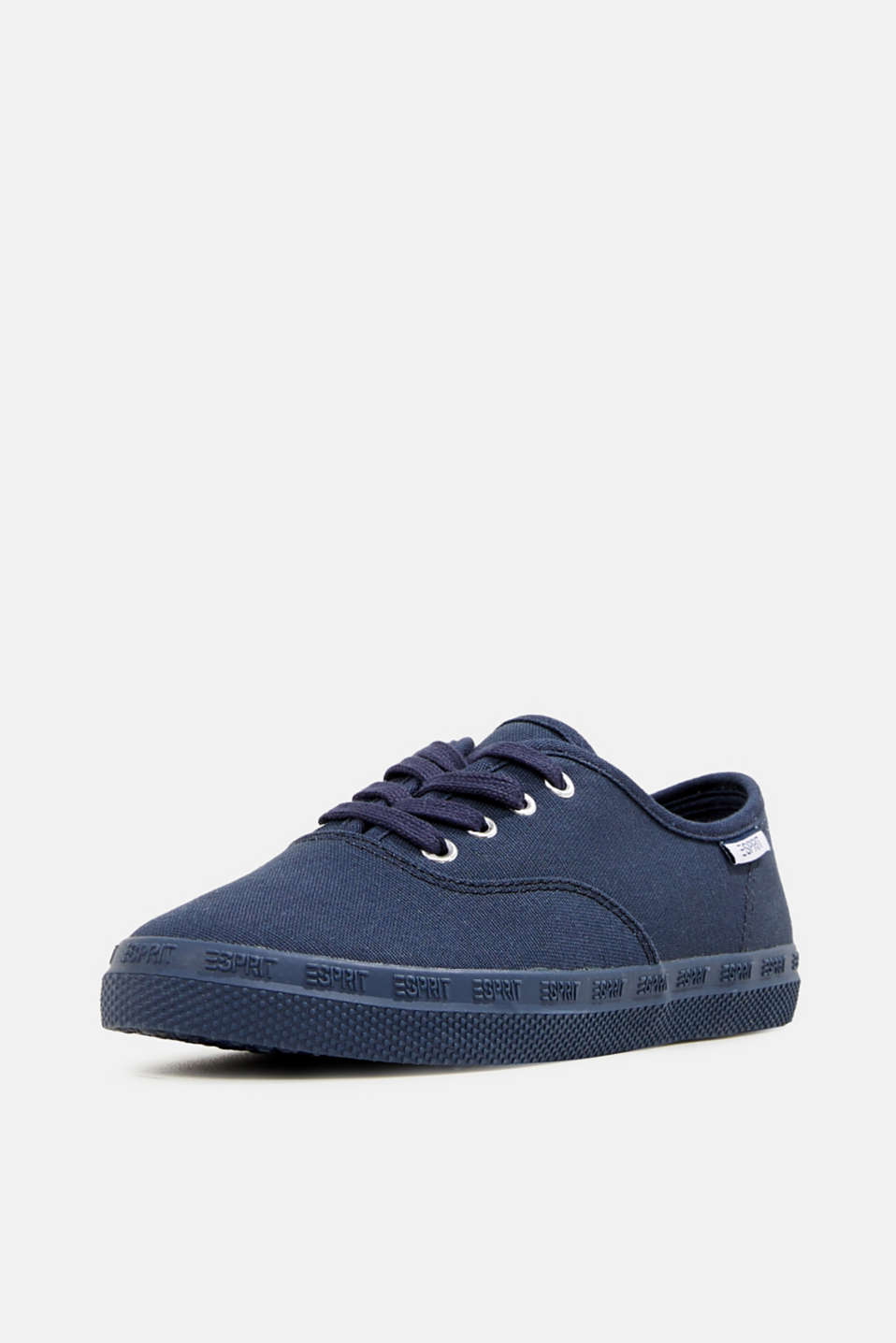 Cotton canvas trainers, NAVY, detail image number 2