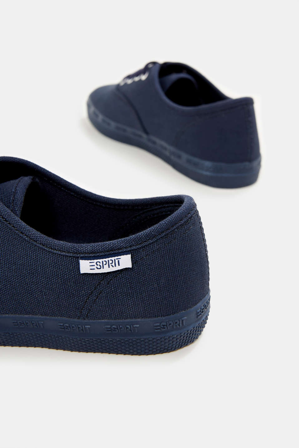 Cotton canvas trainers, NAVY, detail image number 5