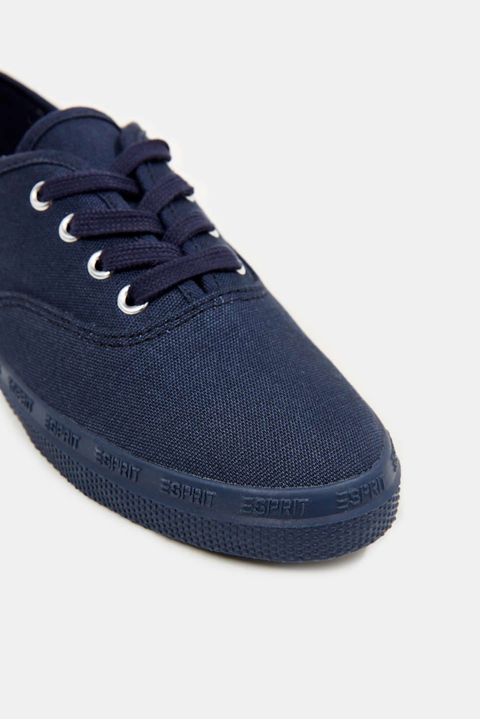 Cotton canvas trainers, NAVY, detail image number 4