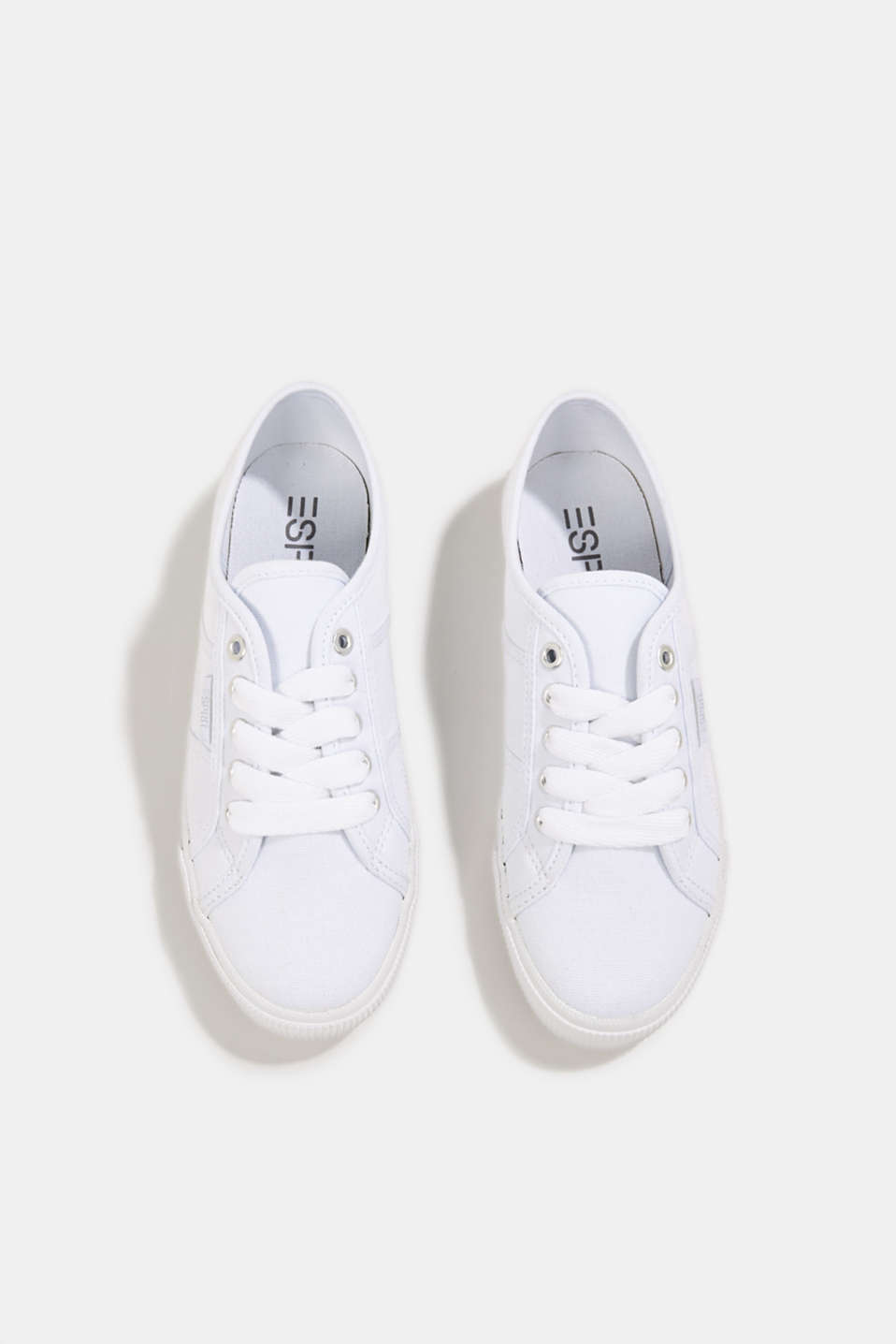 Canvas trainers in a retro look, WHITE, detail image number 1