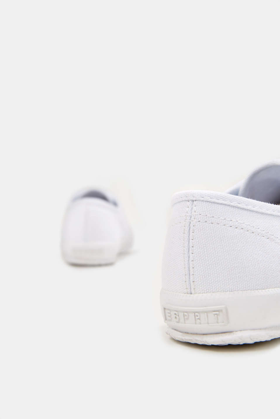 Canvas trainers in a retro look, WHITE, detail image number 5