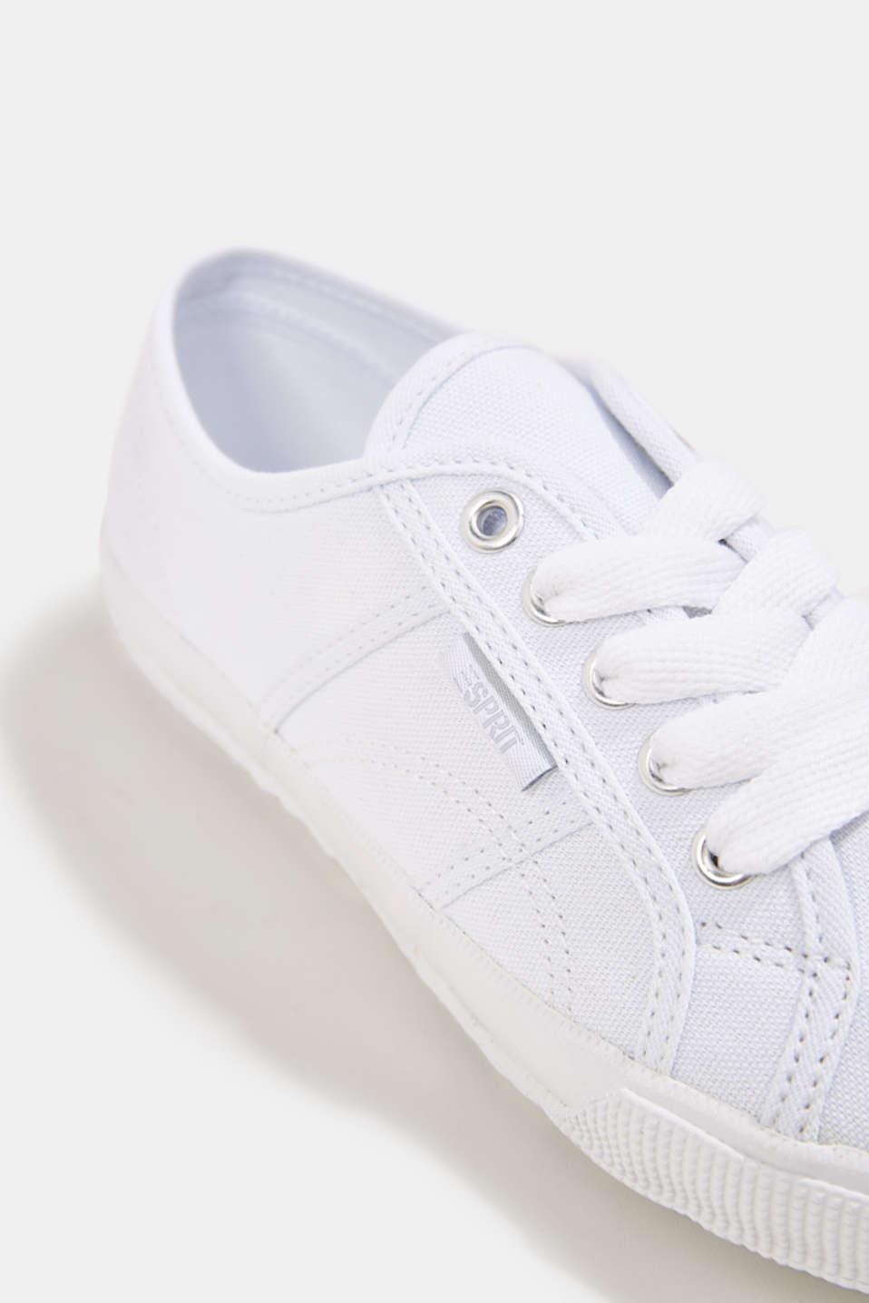 Canvas trainers in a retro look, WHITE, detail image number 4