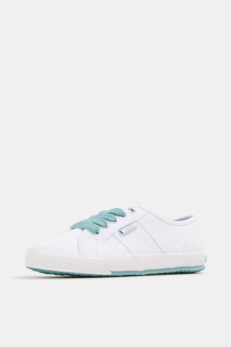 Canvas trainers in a retro look, LIGHT AQUA GREEN, detail image number 2