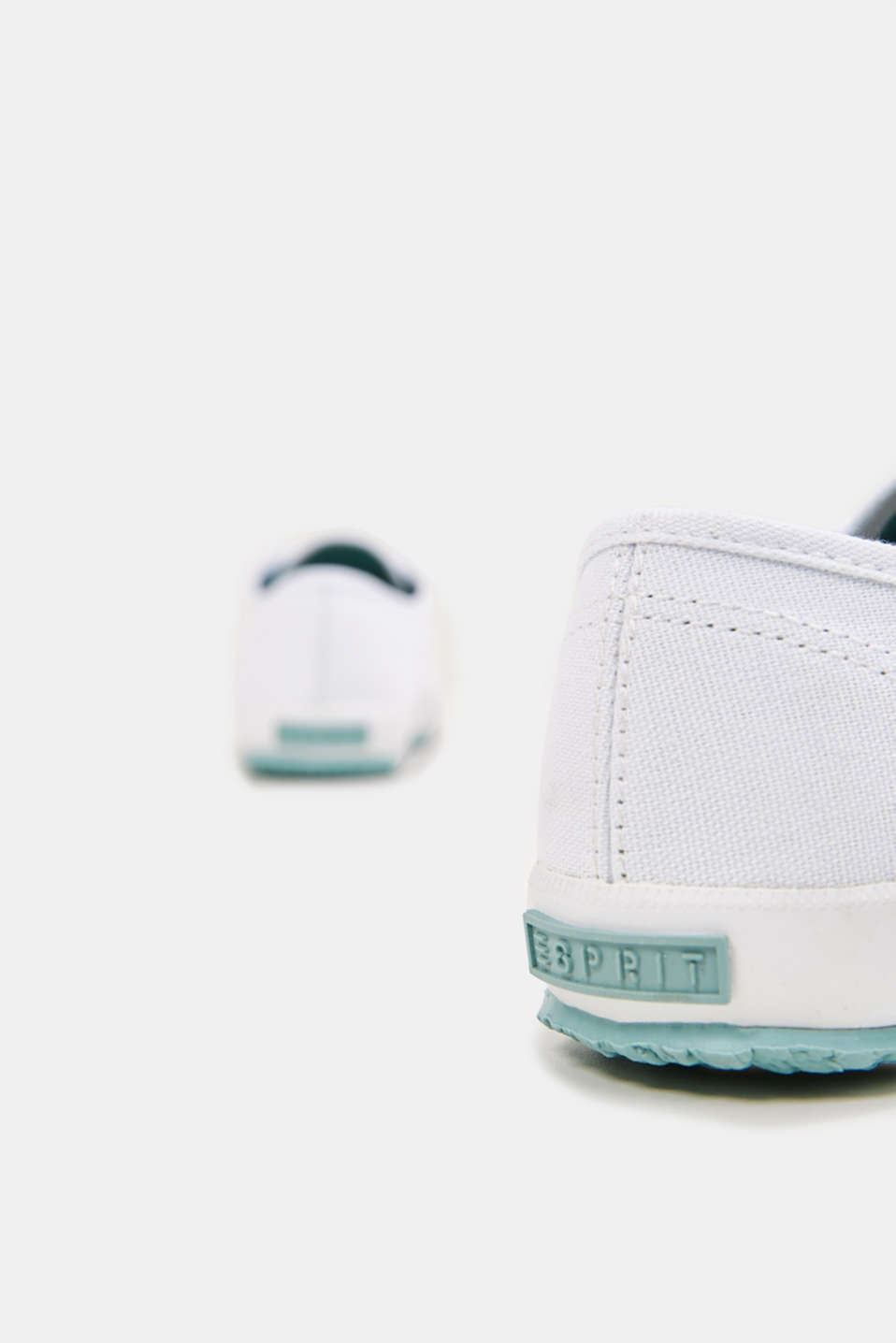 Canvas trainers in a retro look, LIGHT AQUA GREEN, detail image number 5
