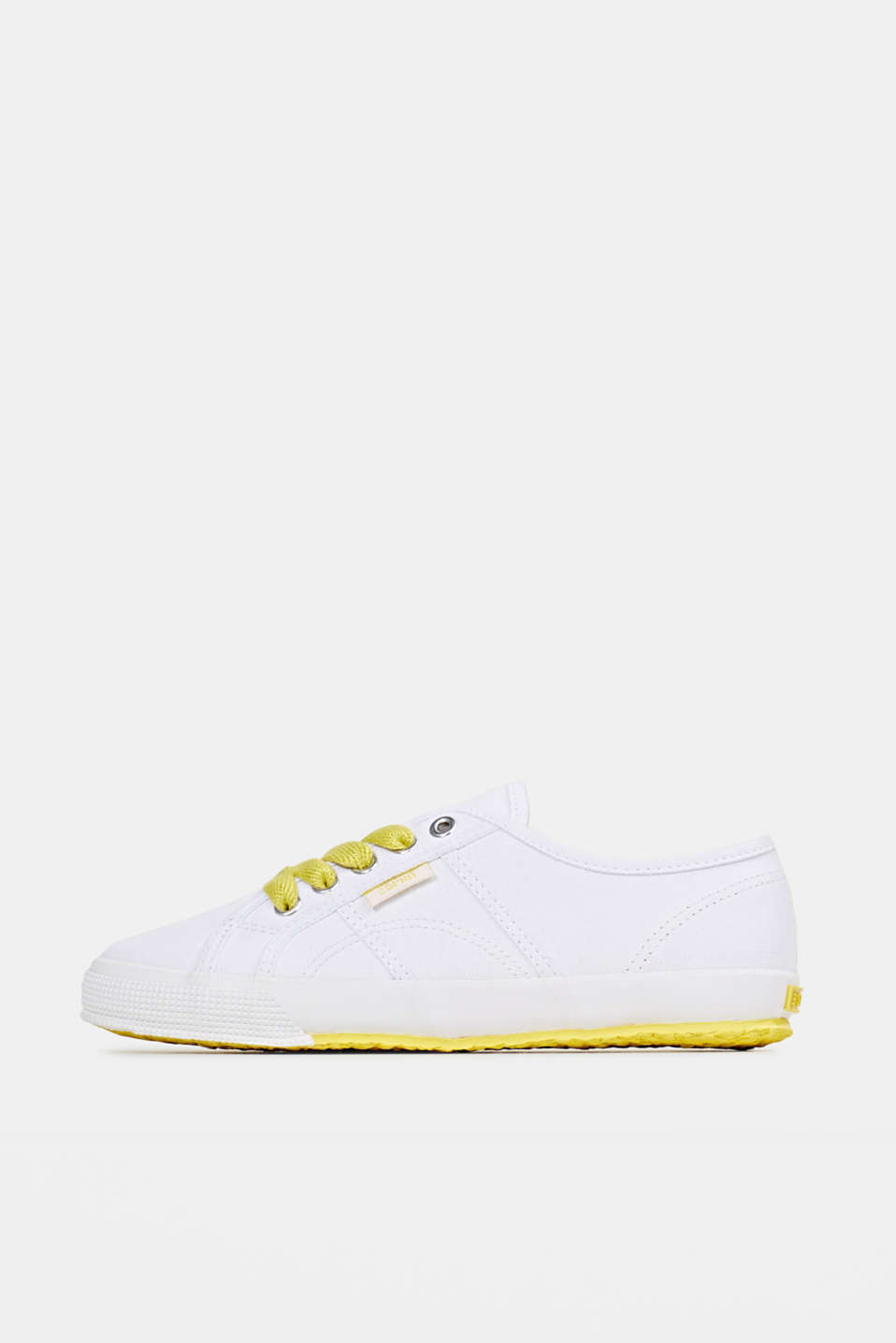 Canvas trainers in a retro look, BRIGHT YELLOW, detail image number 0