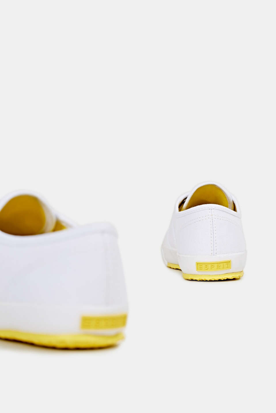 Canvas trainers in a retro look, BRIGHT YELLOW, detail image number 5