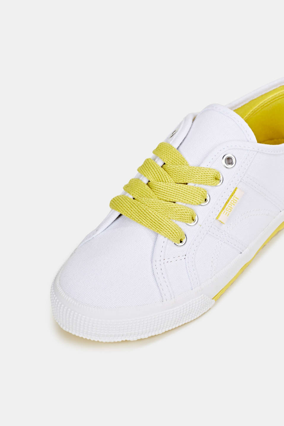 Canvas trainers in a retro look, BRIGHT YELLOW, detail image number 4
