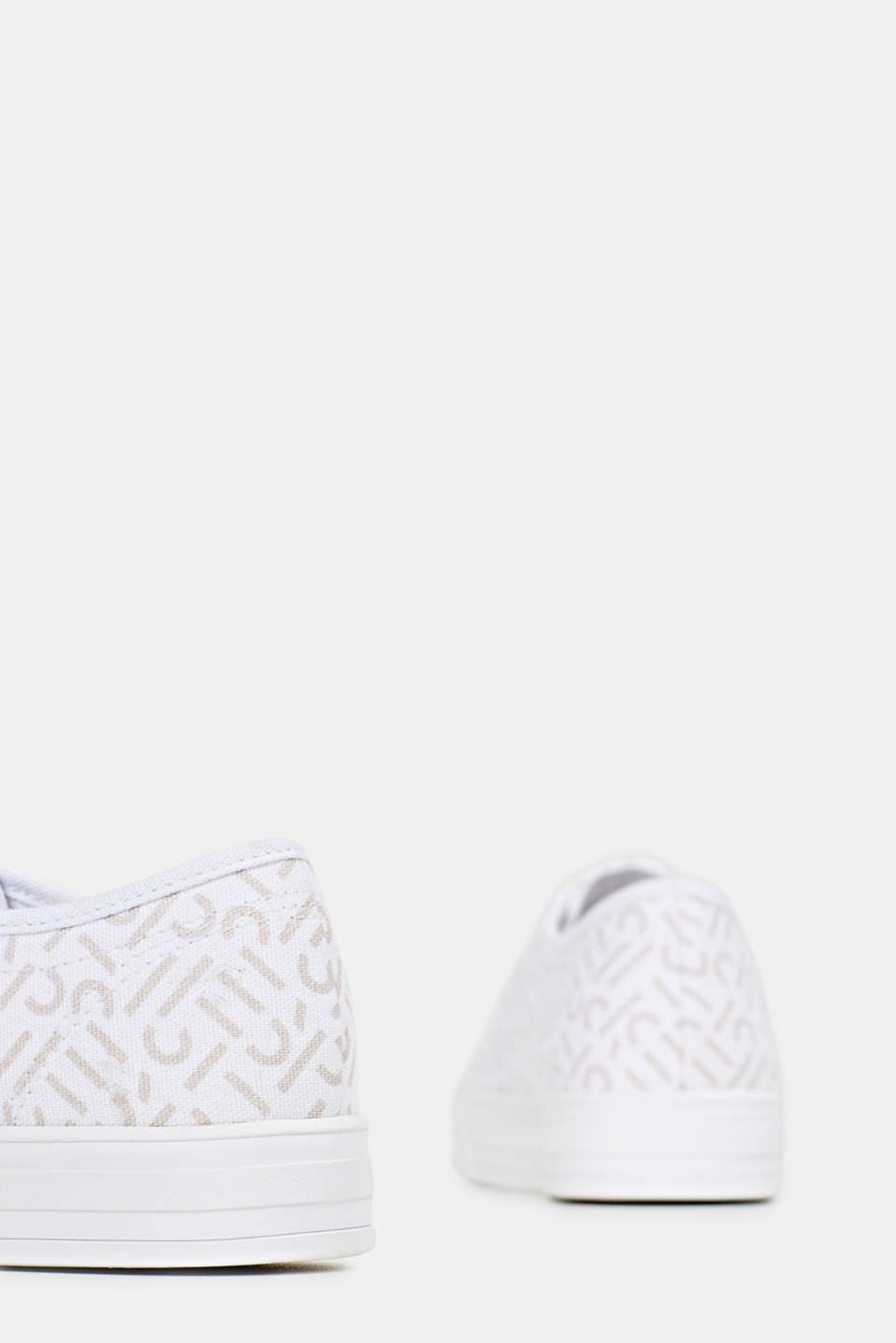 Trainers with a logo print, WHITE, detail image number 5