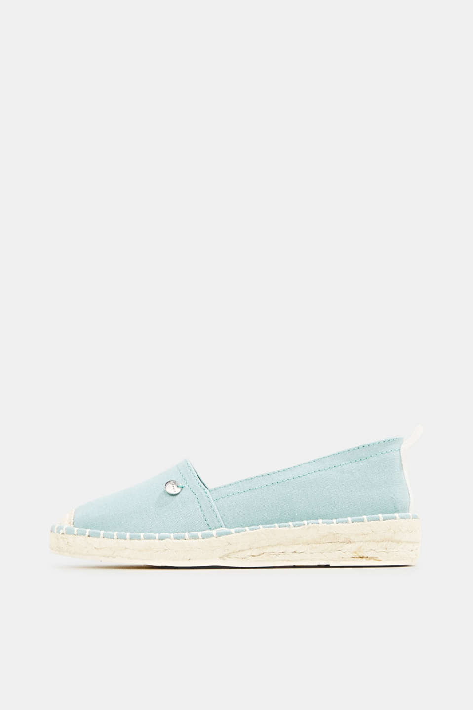 Canvas espadrilles with bast sole, LIGHT AQUA GREEN, detail image number 0