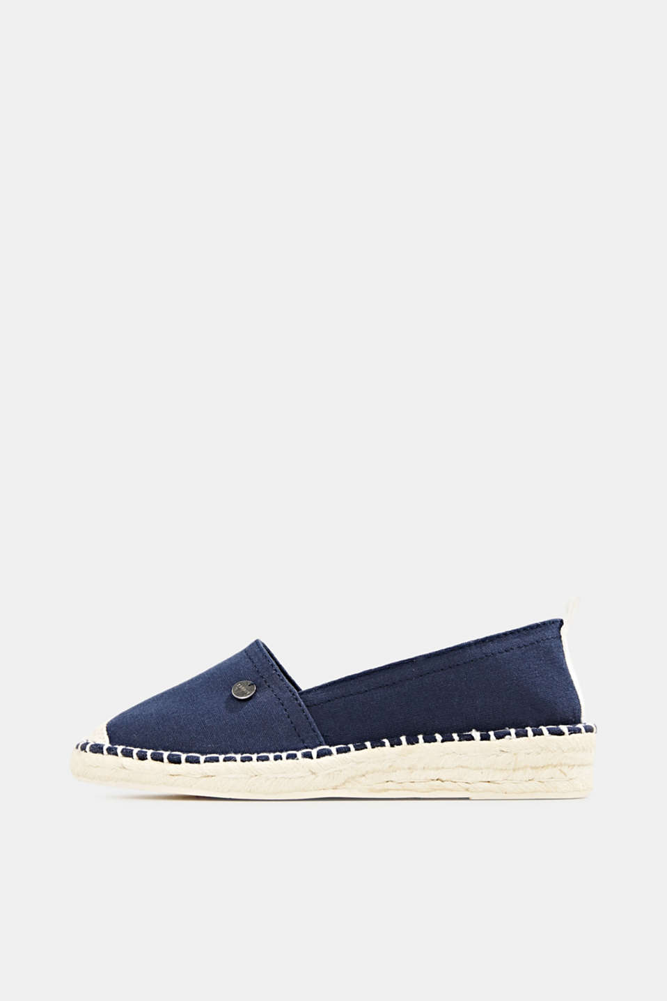 Canvas espadrilles with bast sole, NAVY, detail image number 0