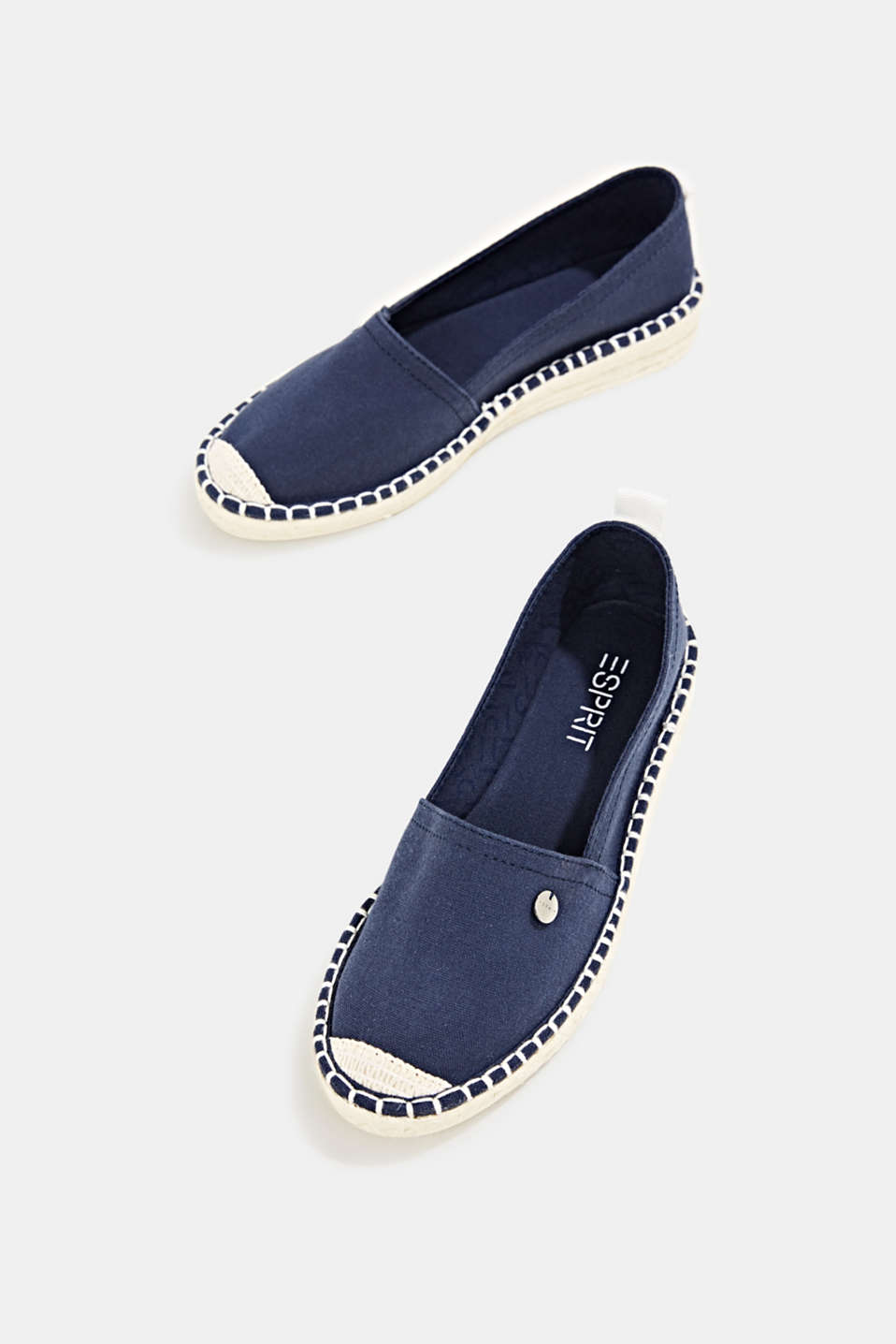 Canvas espadrilles with bast sole, NAVY, detail image number 1