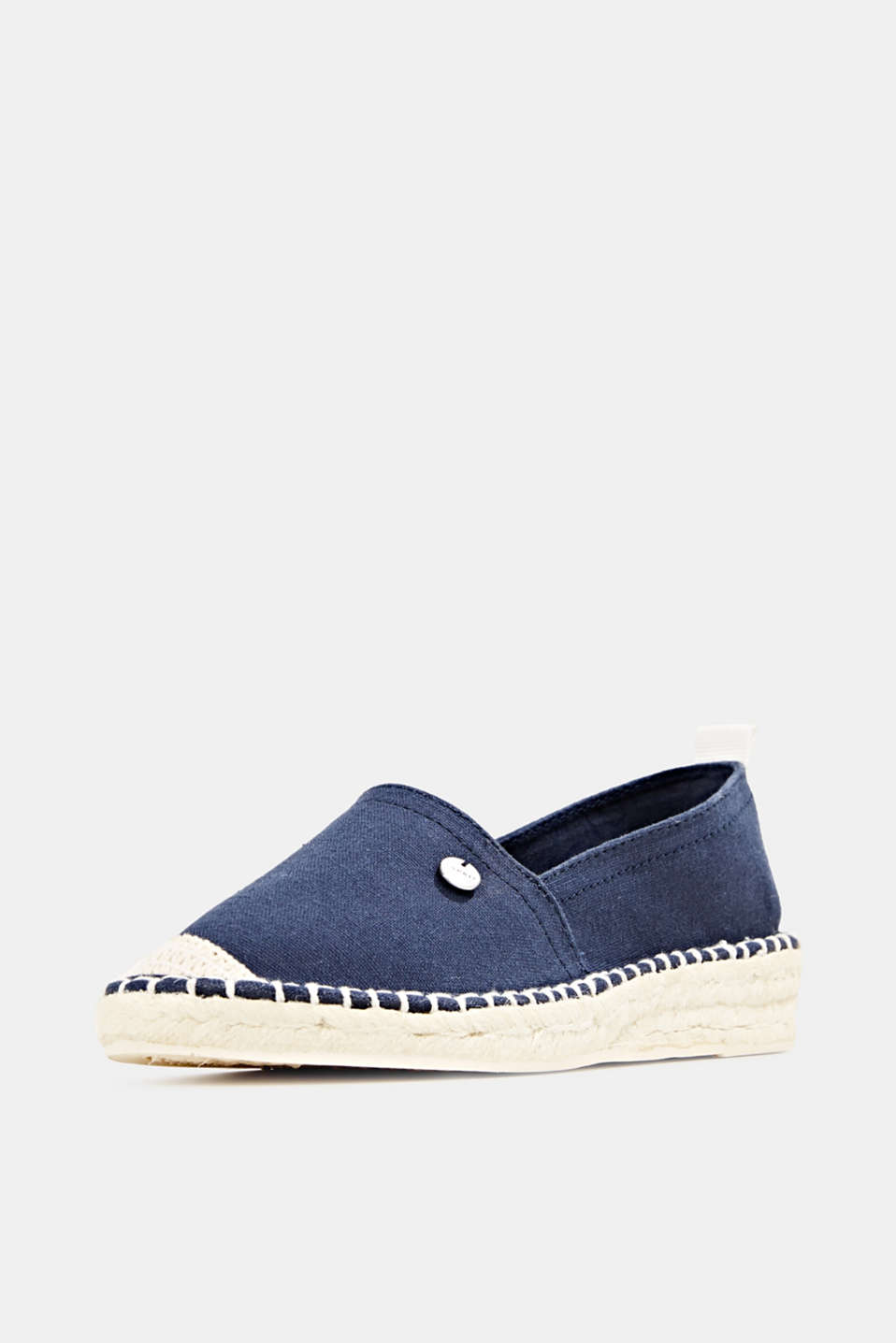 Canvas espadrilles with bast sole, NAVY, detail image number 2