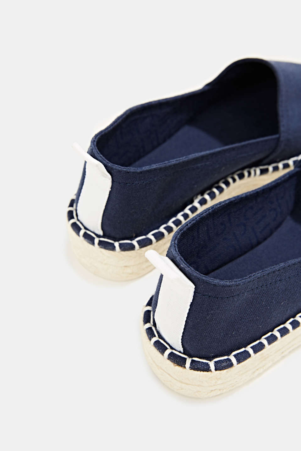 Canvas espadrilles with bast sole, NAVY, detail image number 5
