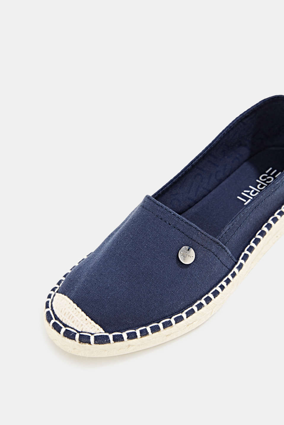 Canvas espadrilles with bast sole, NAVY, detail image number 4