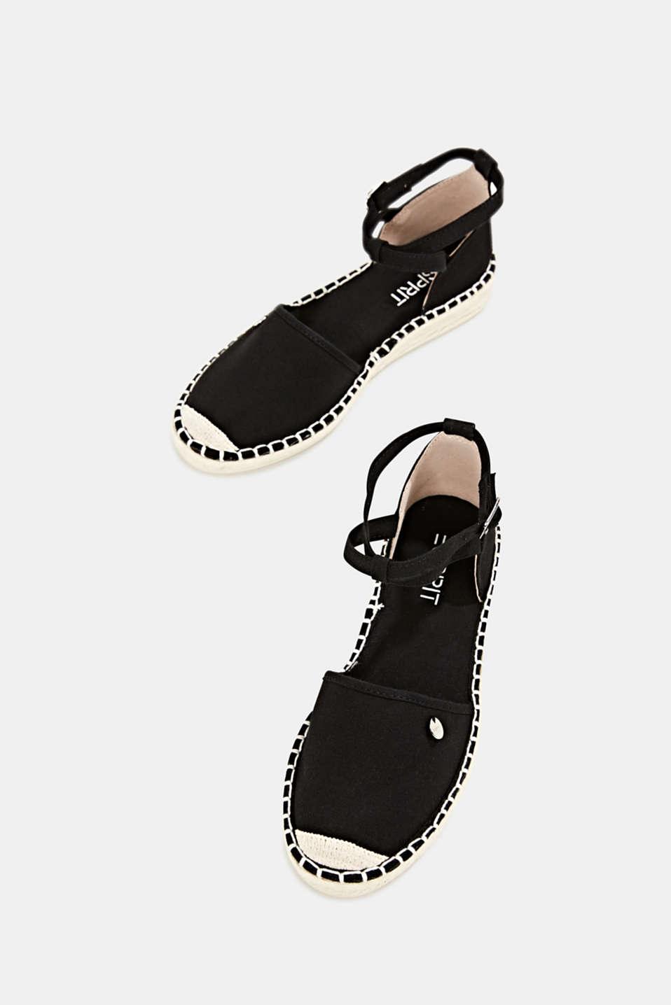 Canvas espadrille sandals, BLACK, detail image number 1
