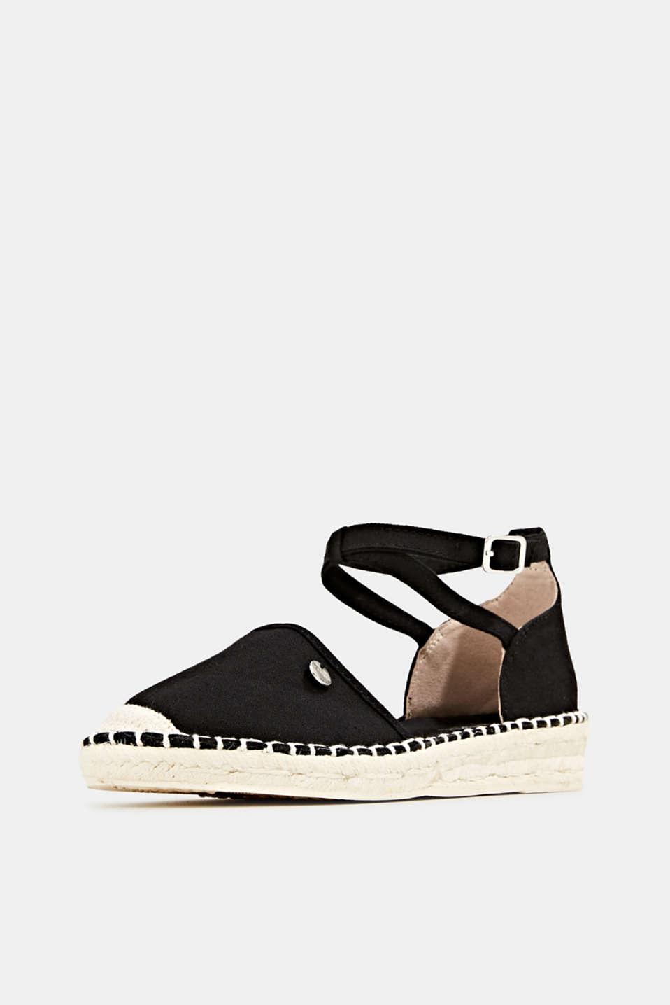 Canvas espadrille sandals, BLACK, detail image number 2