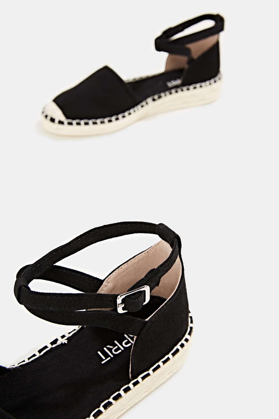 Canvas espadrille sandals, BLACK, detail image number 5