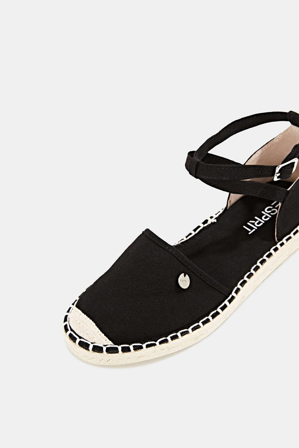 Canvas espadrille sandals, BLACK, detail image number 4