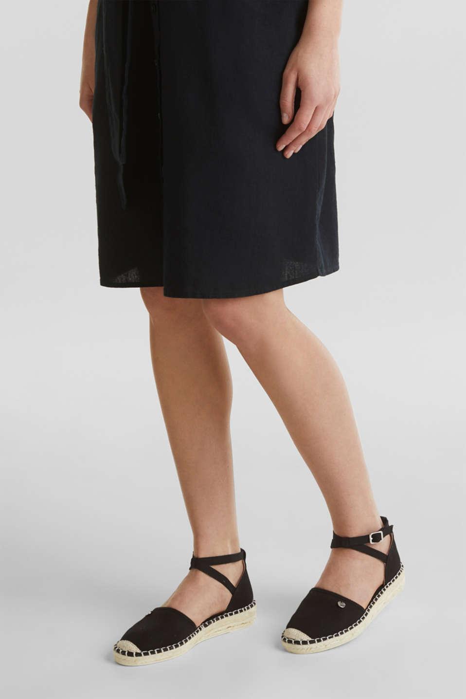 Canvas espadrille sandals, BLACK, detail image number 3