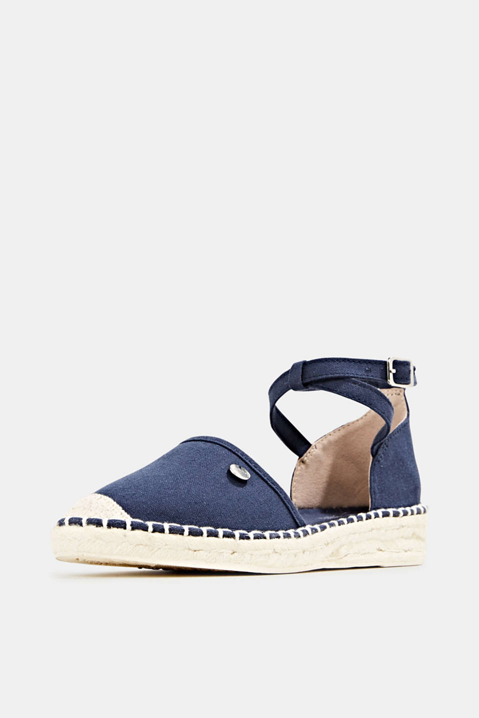 Canvas espadrille sandals, NAVY, detail image number 2