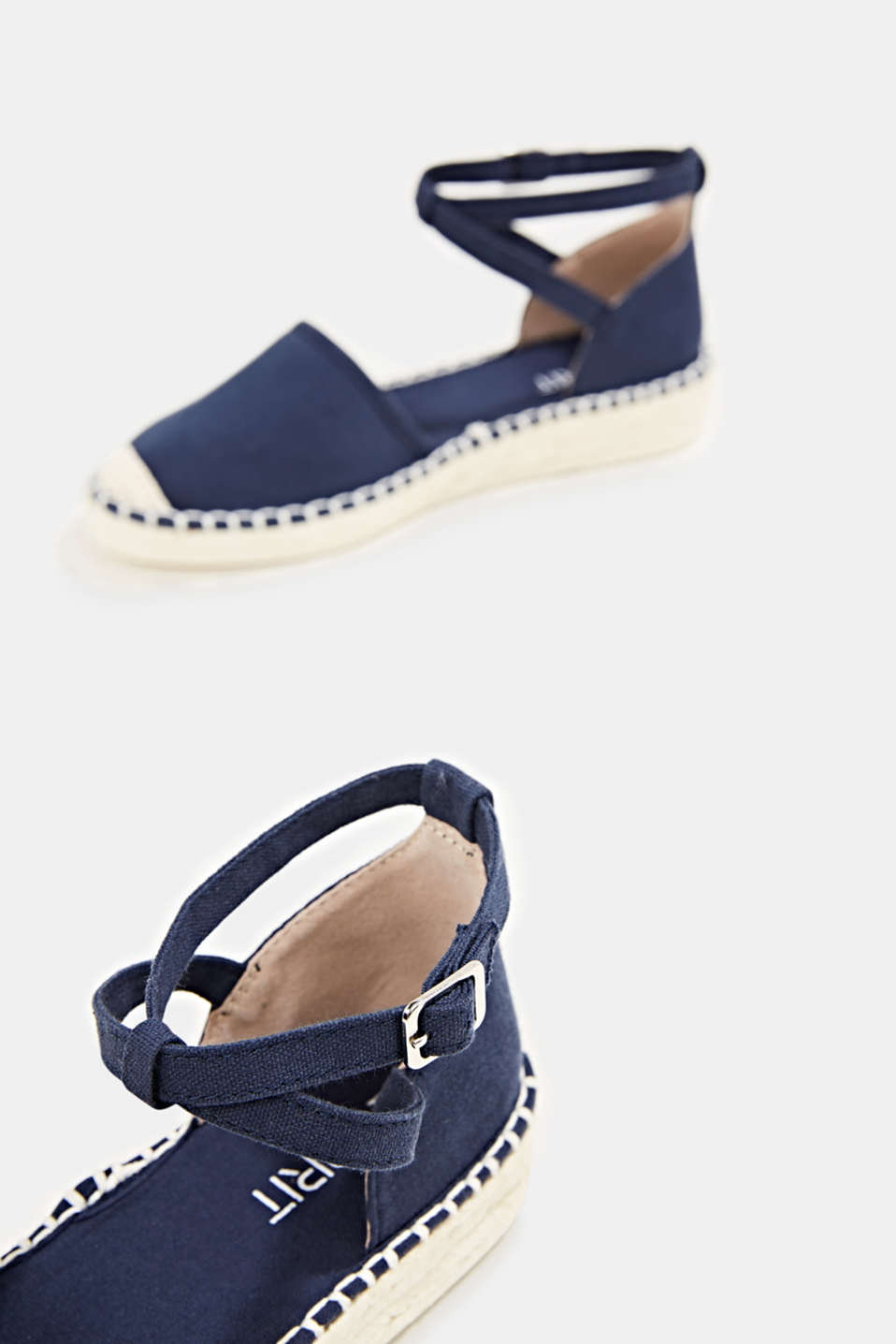 Canvas espadrille sandals, NAVY, detail image number 5
