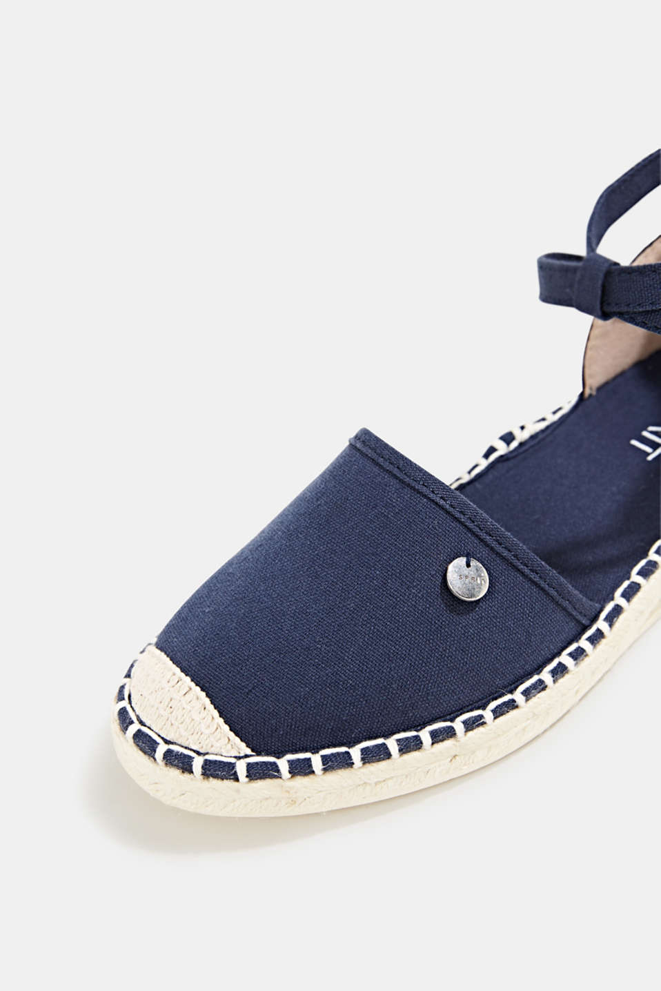 Canvas espadrille sandals, NAVY, detail image number 4