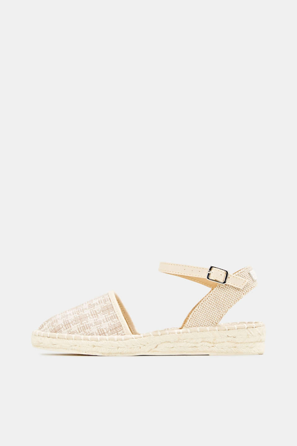Espadrille sandals with a check pattern, BEIGE, detail image number 0