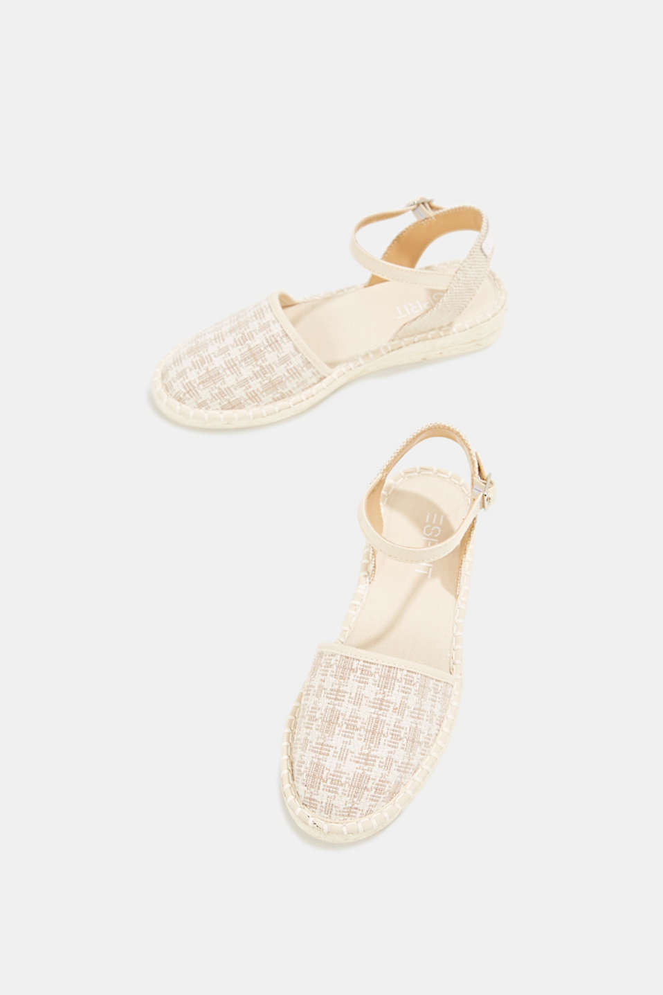 Espadrille sandals with a check pattern, BEIGE, detail image number 1