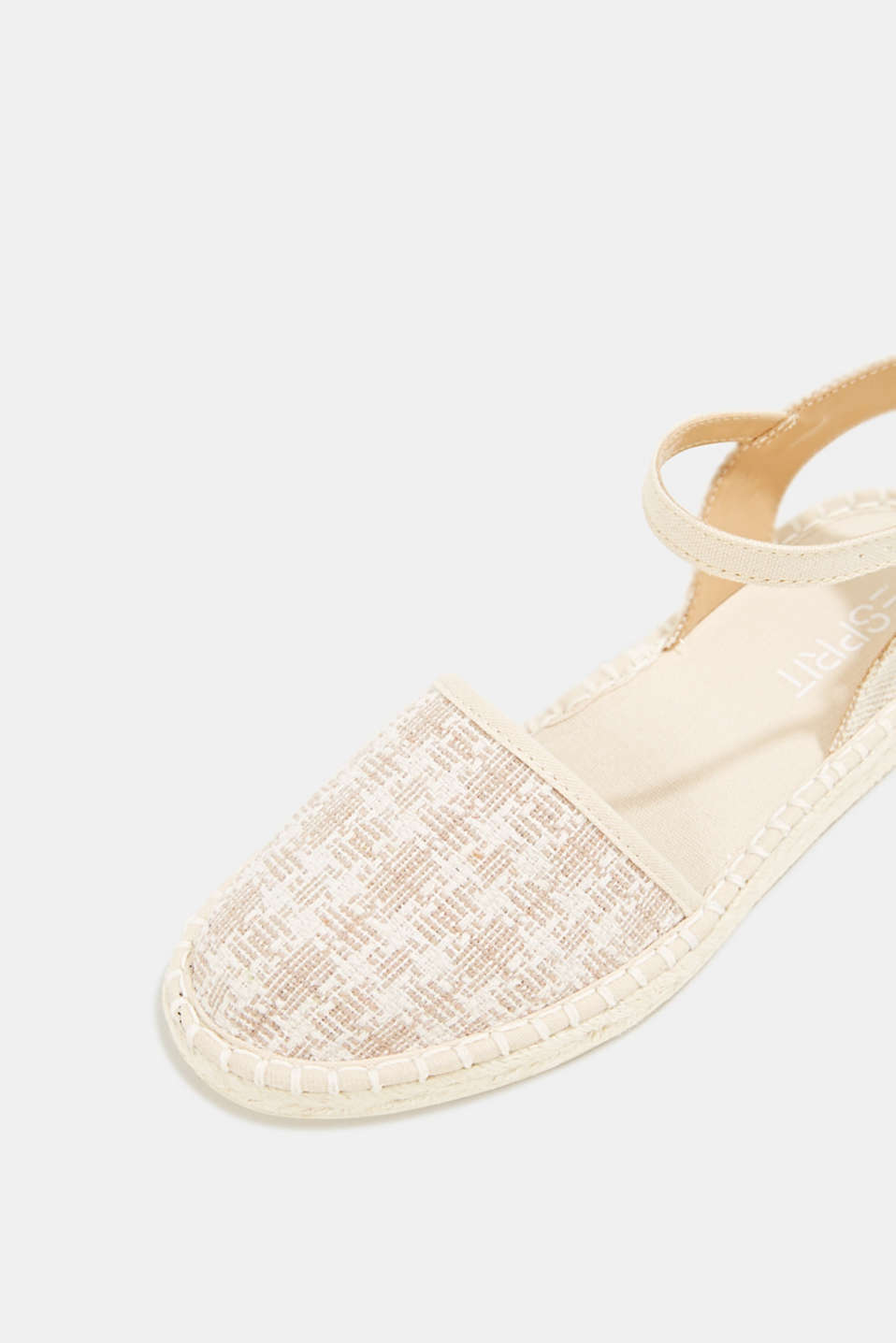 Espadrille sandals with a check pattern, BEIGE, detail image number 4