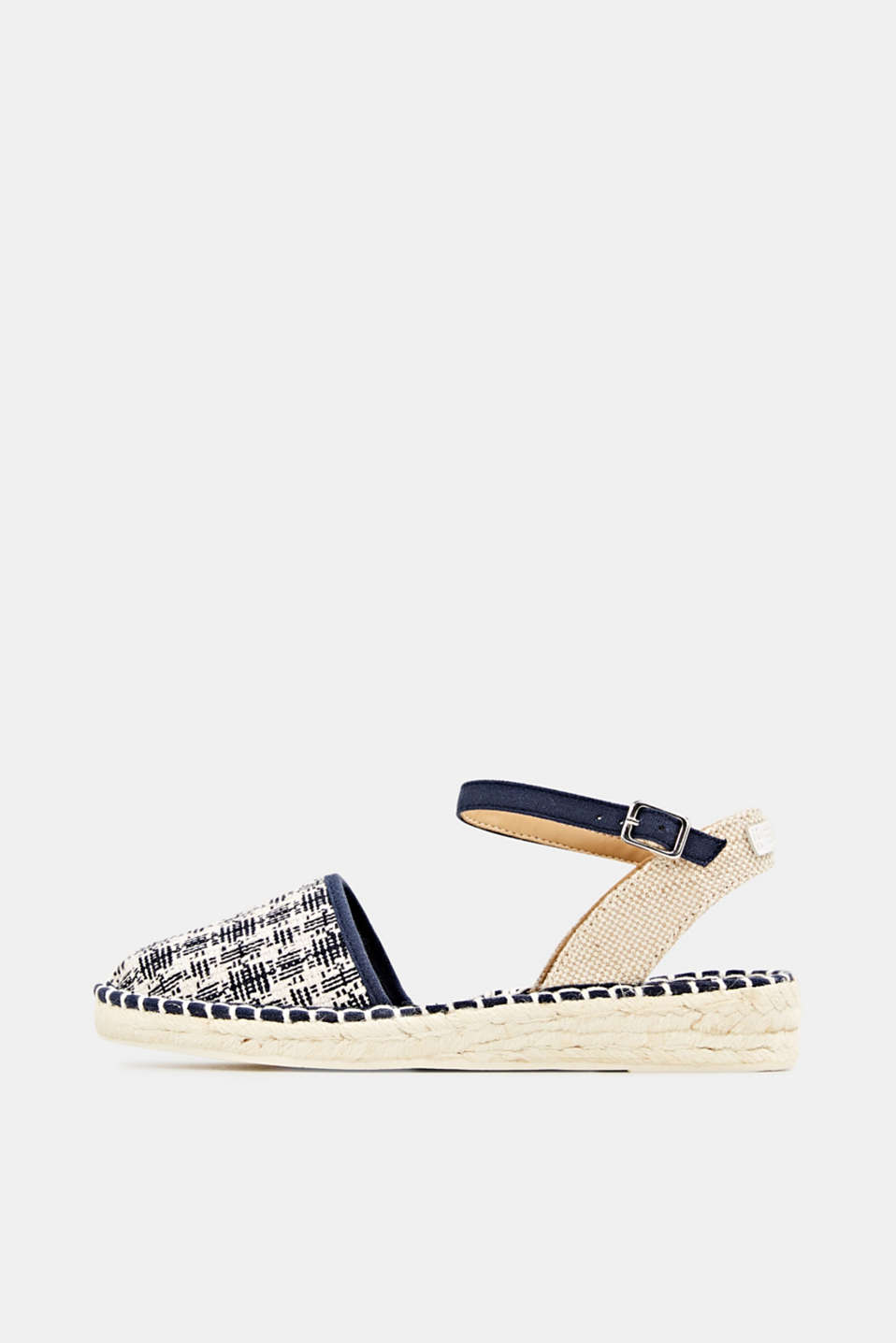 Espadrille sandals with a check pattern, NAVY, detail image number 0