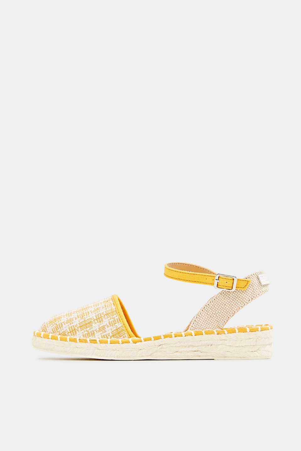 Espadrille sandals with a check pattern, SUNFLOWER YELLOW, detail image number 0