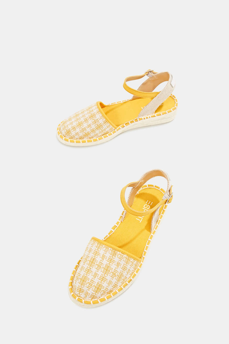 Espadrille sandals with a check pattern, SUNFLOWER YELLOW, detail image number 1