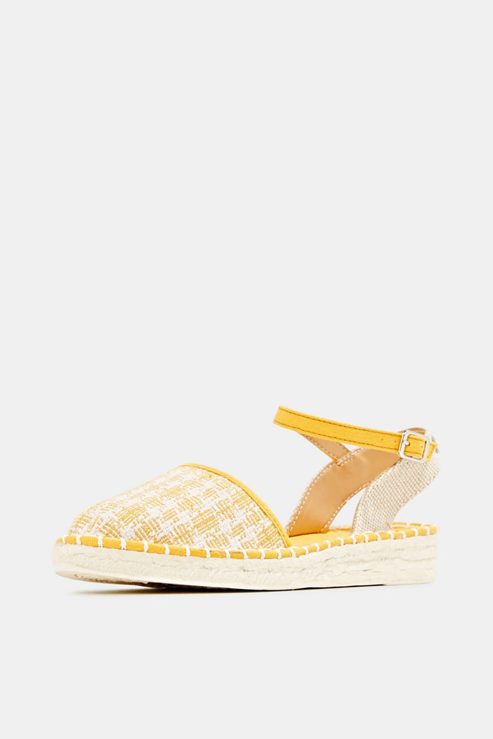 Espadrille sandals with a check pattern, SUNFLOWER YELLOW, detail image number 2