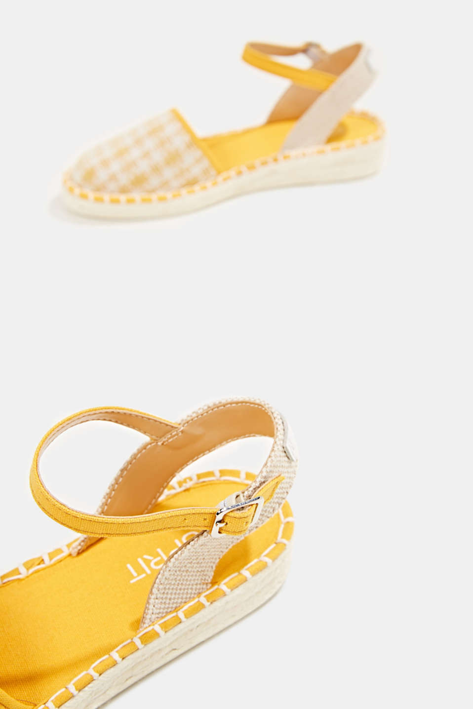 Espadrille sandals with a check pattern, SUNFLOWER YELLOW, detail image number 5