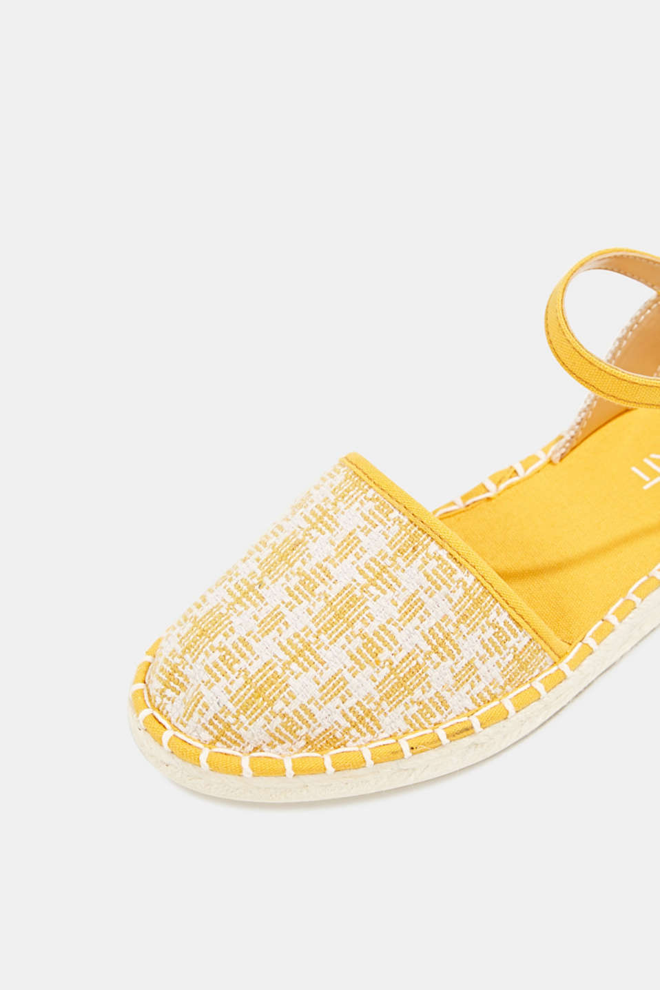 Espadrille sandals with a check pattern, SUNFLOWER YELLOW, detail image number 4