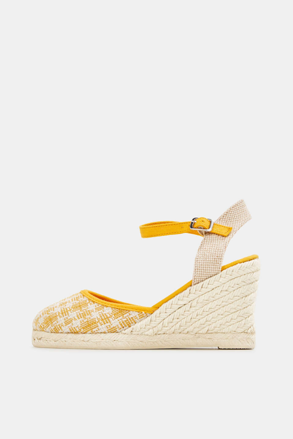 Espadrille sandals with a wedge heel, SUNFLOWER YELLOW, detail image number 0