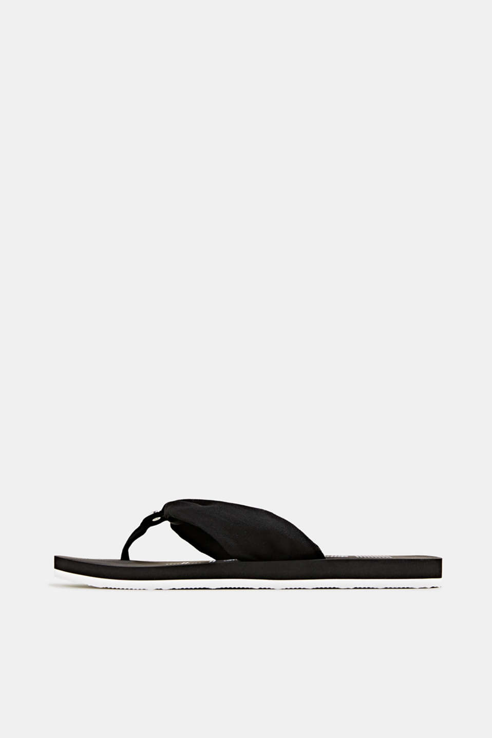 Esprit - Thong sandals with 100% cotton