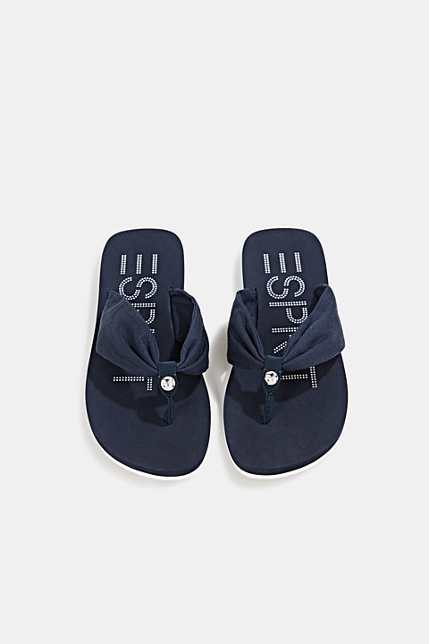 Thong sandals with 100% cotton
