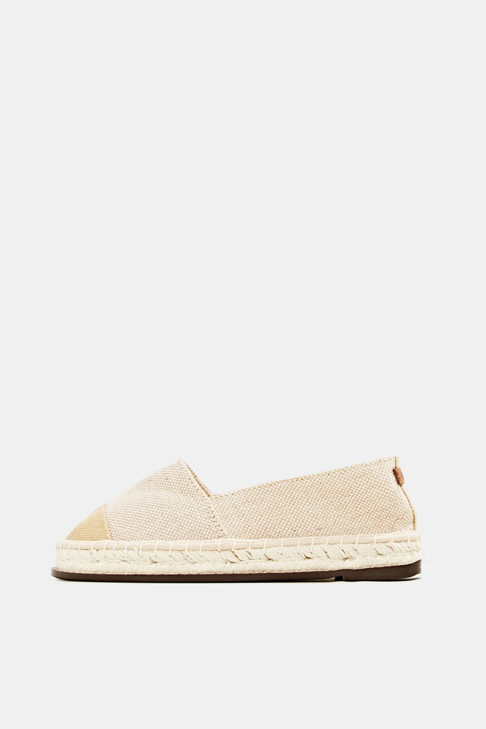 Esprit - Espadrillas in canvas con suola in rafia