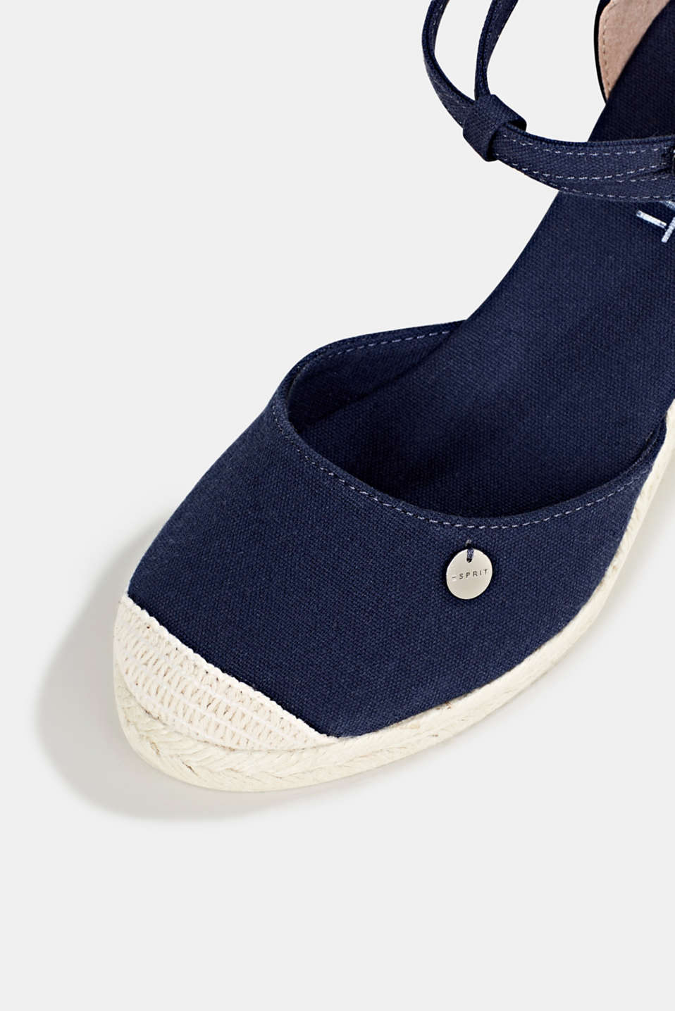 Espadrilles with a wedge heel, NAVY, detail image number 4