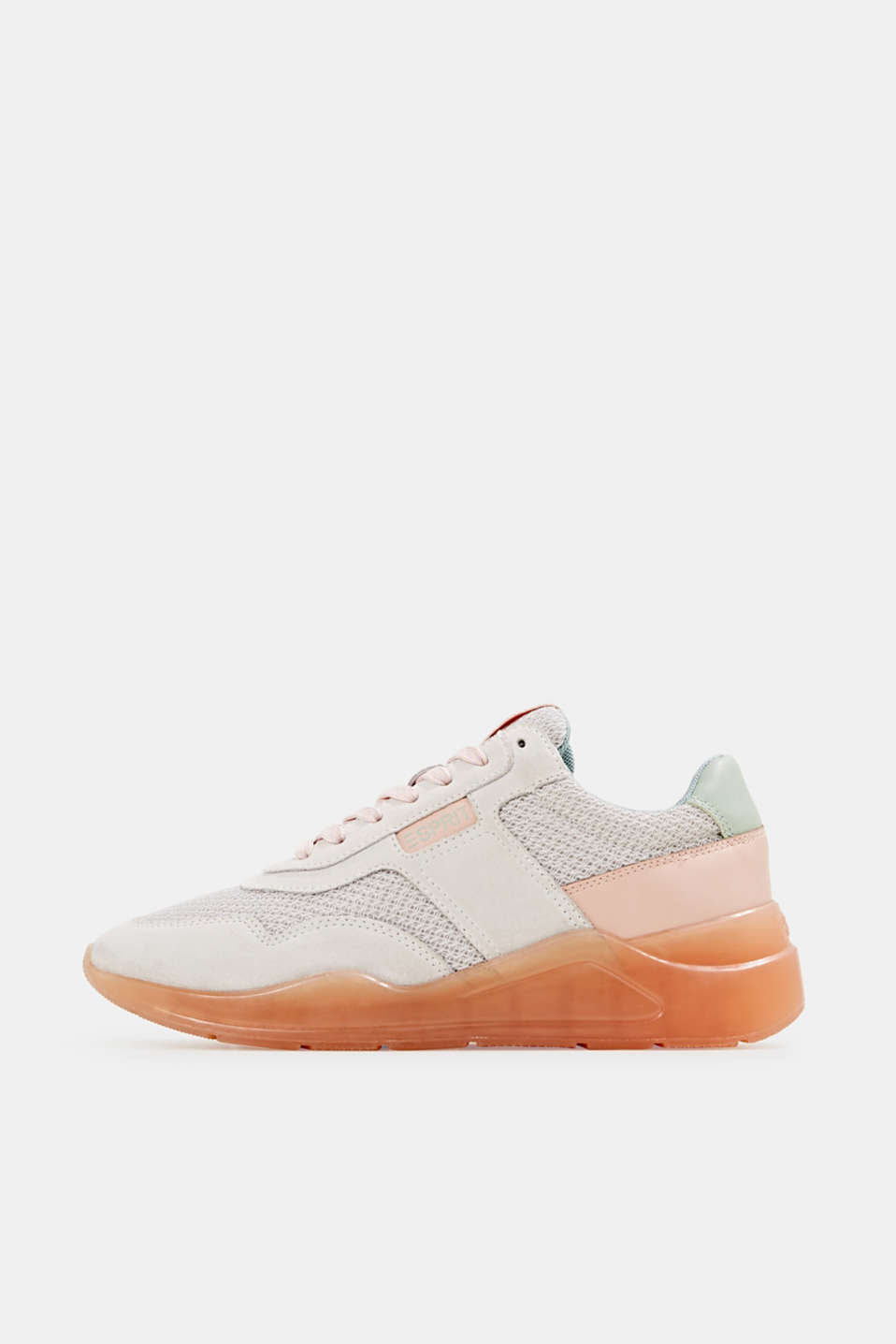 Esprit - Fashion trainers with leather