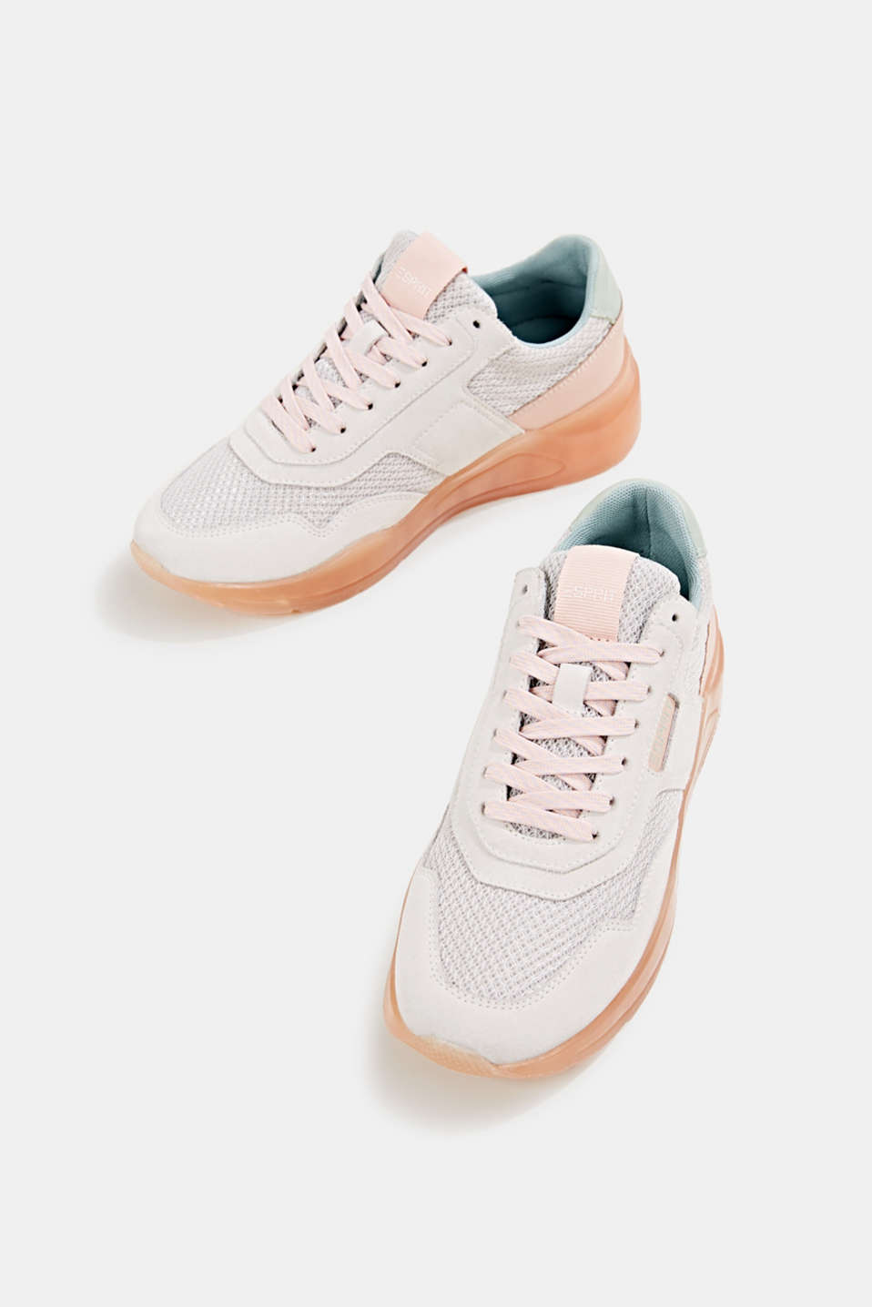 Fashion trainers with leather, LIGHT GREY, detail image number 1